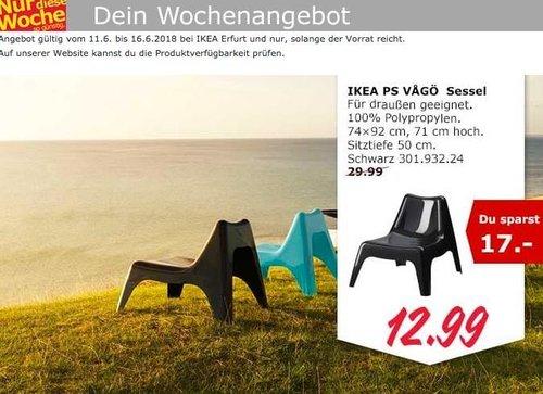 IKEA PS VAGÖ Sessel schwarz - jetzt 57% billiger