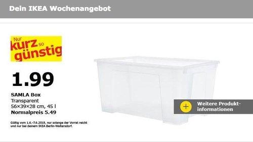 IKEA SALMA Box, 45 Liter - jetzt 64% billiger
