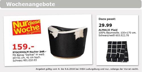 IKEA STOCKHOLM Hocker - jetzt 36% billiger