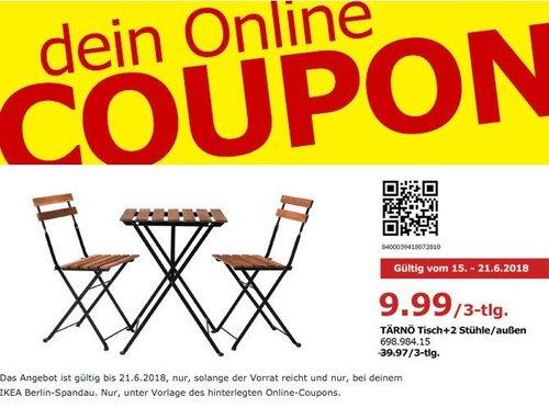 IKEA TÄRNÖ Tisch + 2 Stühle - jetzt 75% billiger