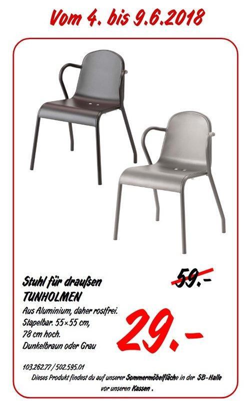 IKEA TUNHOLMEN Stuhl für draußen - jetzt 51% billiger