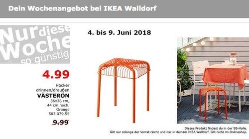 IKEA VÄSTERÖN Hocker drinnen/draußen - jetzt 50% billiger