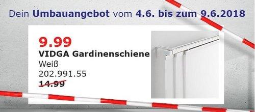 IKEA VIDGA Gardinenschiene 140 cm - jetzt 33% billiger