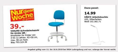IKEA VIMUND Schreibtischstuhl für Kinder - jetzt 43% billiger