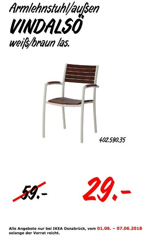 IKEA VINDALSÖ Armlehnstuhl/außen - jetzt 51% billiger