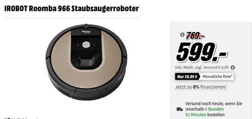 iROBOT Roomba 966 Staubsaugerroboter - jetzt 22% billiger