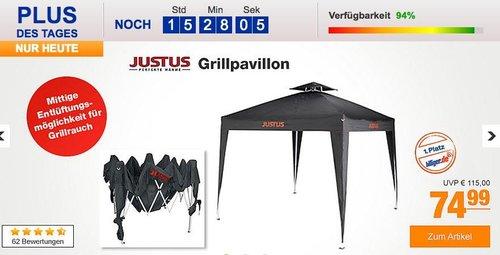 Justus Grillpavillon, 250x250x260cm, Schwarz - jetzt 24% billiger