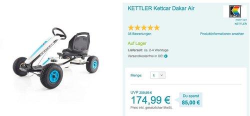 KETTLER Kettcar Dakar Air blau - jetzt 18% billiger