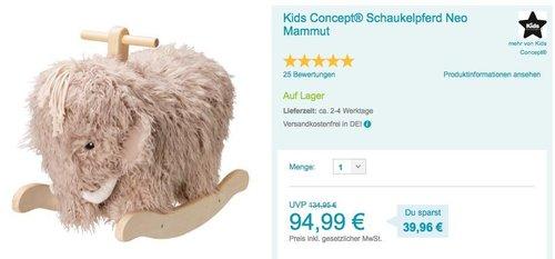 Kids Concept 413761 Schaukelpferd NEO Mammut - jetzt 20% billiger