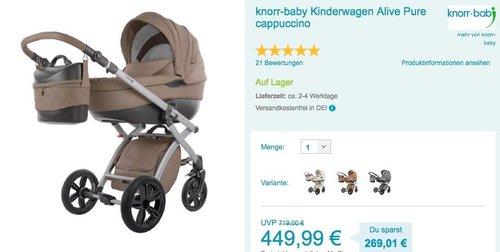 knorr-baby Kinderwagen Alive Pure - jetzt 5% billiger