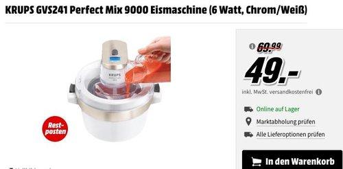 KRUPS GVS241 Perfect Mix 9000 Eismaschine - jetzt 24% billiger