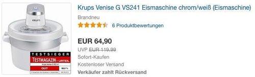 Krups Venise G VS241 Eismaschine - jetzt 6% billiger