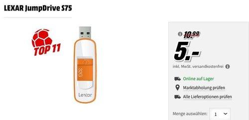 LEXAR JumpDrive S75 32GB USB Stick - jetzt 50% billiger