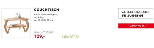 LINEA NATURACouchtischaus massivem Kernbuchenholz - jetzt 41% billiger