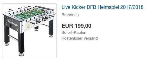 Live Kicker DFB Heimspiel 2017/2018 - jetzt 33% billiger