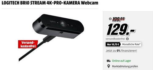 LOGITECH BRIO STREAM 4K-PRO-KAMERA Webcam - jetzt 17% billiger