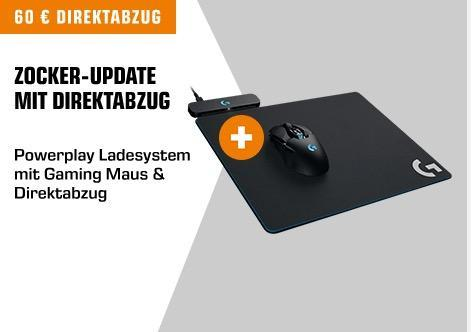 Logitech G703 Wireless Gaming Maus (mit kabelloser Powerplay-Aufladetechnologie und Lightspeed) + Powerplay Wireless Charging Gaming Mouse Pad (für Logitech G903 und G703) - jetzt 31% billiger