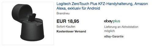 Logitech ZeroTouch Plus KFZ-Handyhalterung (mit Sprachsteuerungs-App und Amazon Alexa, exklusiv für Android) - jetzt 30% billiger