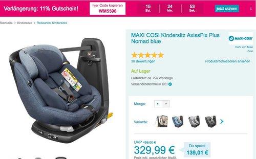 MAXI COSI Kindersitz AxissFix Plus Nomad blue - jetzt 19% billiger