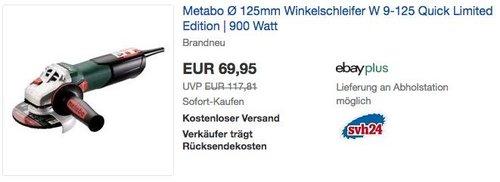 Metabo Winkelschleifer W 9-125 Quick Limited Edition 900 Watt - jetzt 10% billiger