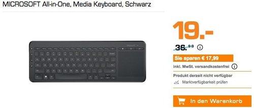 MICROSOFT All-in-One Multimedia-Tastatur schwarz - jetzt 39% billiger