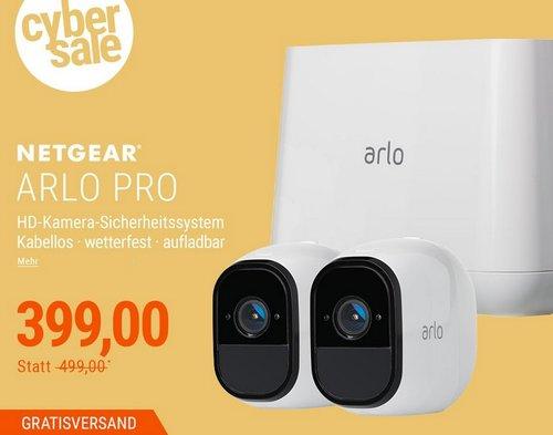 Netgear Arlo Pro VMS4230 Sicherheitssystem 2x HD Kamera & Basisstation Sirene - jetzt 11% billiger