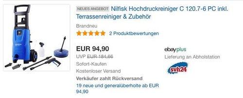 Nilfisk Hochdruckreiniger C 120.7-6 PC inkl. Terrassenreiniger & Zubehör - jetzt 17% billiger