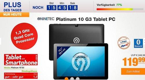 NINETEC Platinum 10 G3 – 10.1 Zoll Aluminium Tablet-PC - jetzt 20% billiger