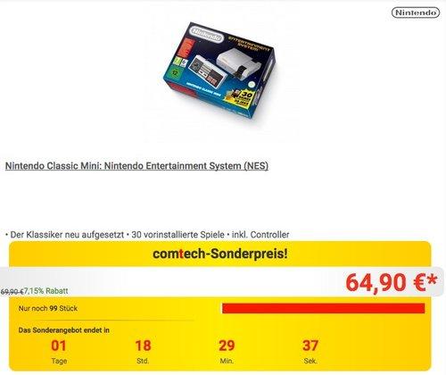 Nintendo Classic Mini: Nintendo Entertainment System (NES) - jetzt 7% billiger