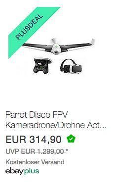 Parrot Disco FPV Drone - jetzt 10% billiger