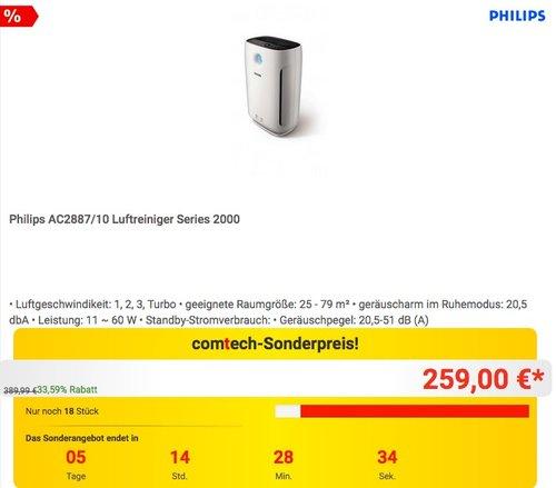 Philips AC2887/10 Luftreiniger - jetzt 9% billiger