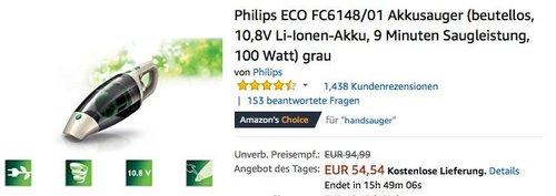 Philips ECO FC6148/01 Akkusauger grau - jetzt 17% billiger