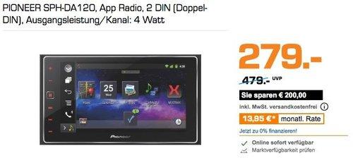 PIONEER SPH-DA120 App Auotradio,  2 DIN - jetzt 7% billiger