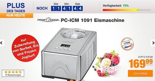 Profi Cook PC-ICM 1091 Eismaschine - jetzt 10% billiger