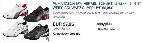 Puma Herren Tazon 6 FM Laufschuhe - jetzt 16% billiger