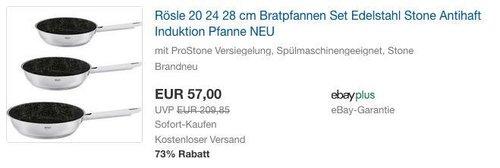 Rösle 20 24 28 cm Bratpfannen Set - jetzt 18% billiger