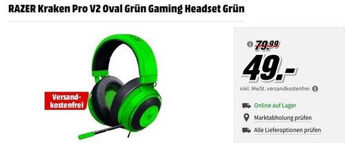 RAZER Kraken Pro V2 Oval Grün Gaming Headset - jetzt 39% billiger