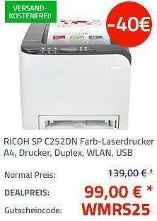 RICOH SP C252DN Farb-Laserdrucker - jetzt 29% billiger