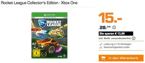 Rocket League Collector's Edition - Xbox One - jetzt 38% billiger