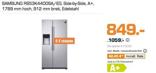SAMSUNG RS53K4400SA/EG Side-by-Side Kühlgefrierkombination, A+ - jetzt 18% billiger