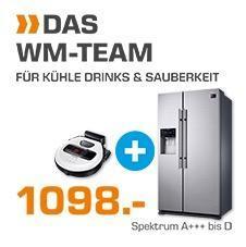 Saturn Spar-Set: SAMSUNG RS53K4400SA/EG Side-by-Side Kühlschrank + SAMSUNG VR1GM7010UW/EG Saugroboter - jetzt 21% billiger