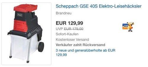 Scheppach GSE 40S Elektro-Leisehäcksler - jetzt 23% billiger