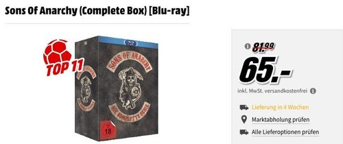 Sons Of Anarchy (Complete Box) [Blu-ray] - jetzt 13% billiger