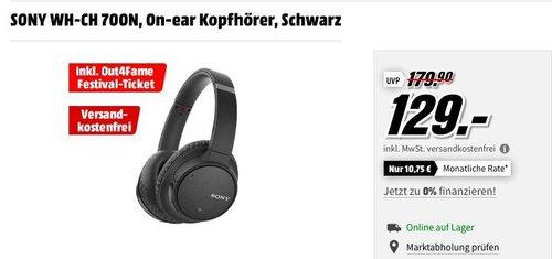 SONY WH-CH 700N On-ear Kopfhörer inkl. out4Frame Festival-Tcket - jetzt 35% billiger