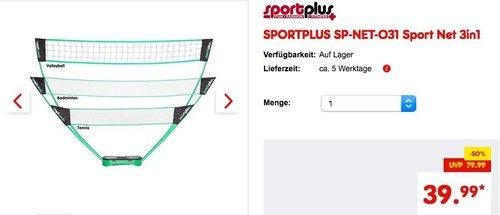 SPORTPLUS SP-NET-031 3in1 Sport-Netz in praktischem Tragekoffer - jetzt 10% billiger