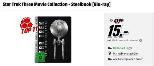 Star Trek Three Movie Collection - Steelbook [Blu-ray] - jetzt 40% billiger