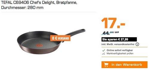 TEFAL C69406 Chef's Delight Bratpfanne mit 28 cm Durchmesser - jetzt 47% billiger