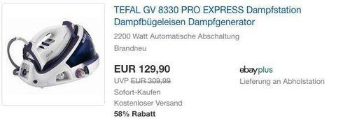 TEFAL GV 8330 PRO EXPRESS Dampfstation - jetzt 13% billiger