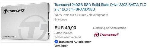 Transcend 240GB SSD interne Festplatte - jetzt 14% billiger