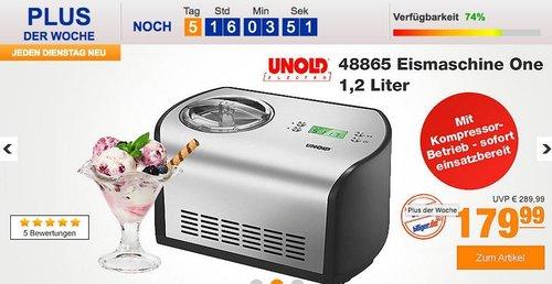 Unold 48865 Eismaschine One 1,2 Liter - jetzt 12% billiger